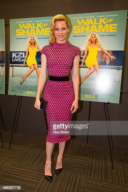 Elizabeth Banks attends the 'Walk of Shame' New Orleans special screening at The Theatres at Canal Place on April 23 2014 in New Orleans Louisiana