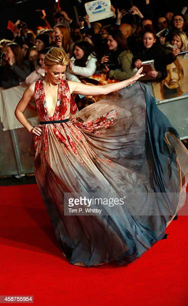 Elizabeth Banks attends the World Premiere of The Hunger Games Mockingjay Part 1 at Odeon Leicester Square on November 10 2014 in London England