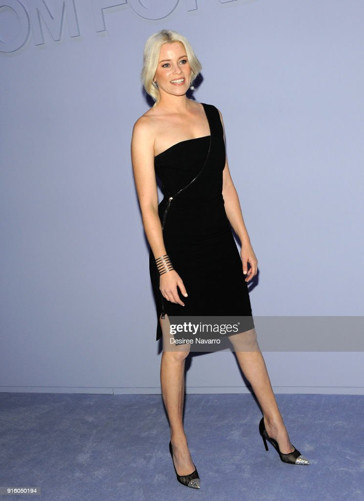 Elizabeth Banks attends Tom Ford Women's Fall/Winter 2018 fashion show during New York Fashion Week at Park Avenue Armory on February 8, 2018 in New York City.