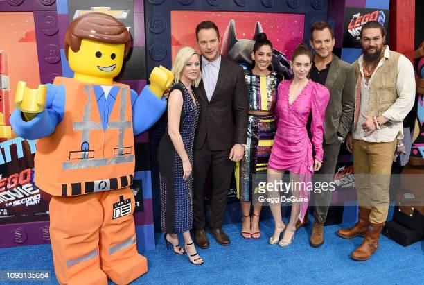 Elizabeth Banks Chris Pratt Stephanie Beatriz Alison Brie Will Arnett and Jason Momoa attend the Premiere Of Warner Bros Pictures' The Lego Movie 2...