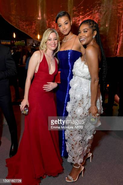 Elizabeth Banks, Ella Balinska, and Gabrielle Union attend the 2020 Vanity Fair Oscar Party hosted by Radhika Jones at Wallis Annenberg Center for...