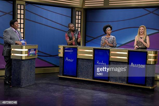 LIVE 'Elizabeth Banks' Episode 1688 Pictured Kenan Thompson as Darnell Hayes Jay Pharoah as Amir Sasheer Zamata as Keeley and Elizabeth Banks as...