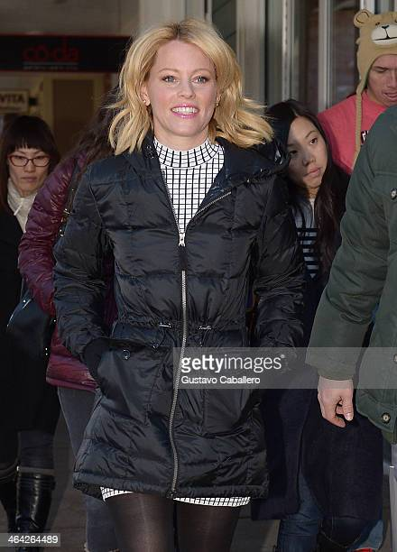Elizabeth Banks is seen at Sundance Festival on January 21 2014 in Park City Utah