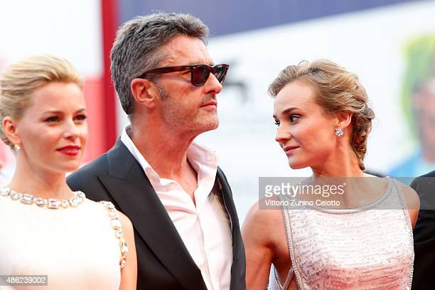 Elizabeth Banks Pawel Pawlikowski and Diane Kruger attend the opening ceremony and premiere of 'Everest' during the 72nd Venice Film Festival on...