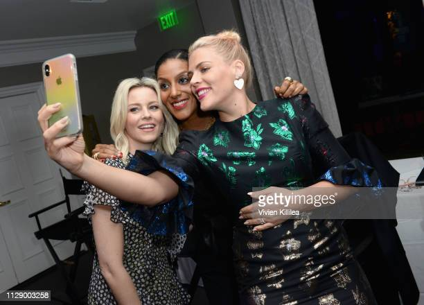 Elizabeth Banks Sarah Jones and Busy Philipps attend The Center for Reproductive Rights Inaugural Los Angeles Benefit at The London West Hollywood on...
