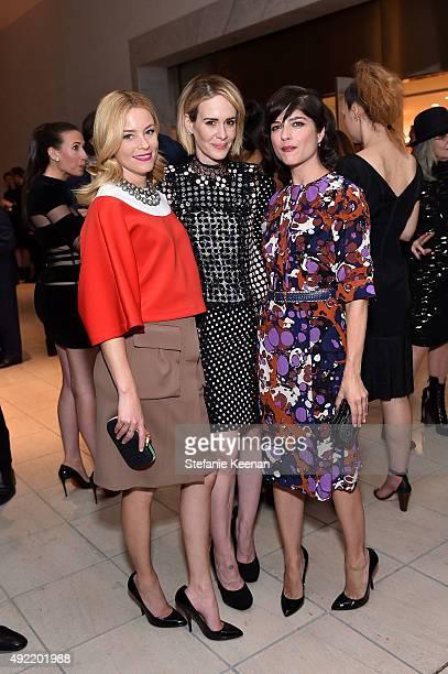Elizabeth Banks Sarah Paulson and Selma Blair all wearing Bottega Veneta attend Hammer Museum's Gala in the Garden Sponsored by Bottega Veneta at...