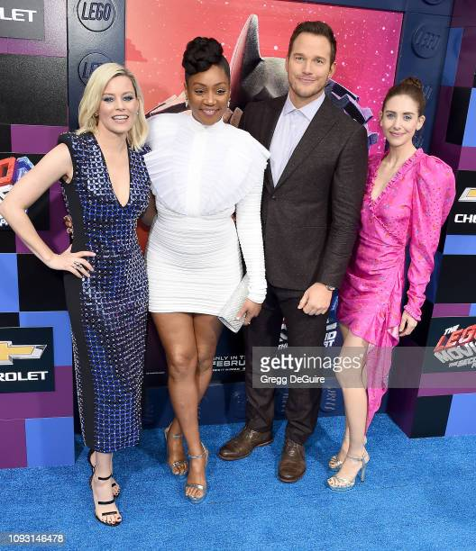 Elizabeth Banks Tiffany Haddish Chris Pratt and Alison Brie attend the premiere of Warner Bros Pictures' The Lego Movie 2 The Second Part at Regency...