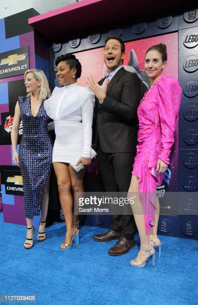 Elizabeth Banks Tiffany Haddish Chris Pratt and Alison Brie attend the premiere of Warner Bros Pictures' 'The Lego Movie 2 The Second Part' at...