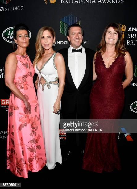 Elizabeth Barbatelli Anna Granucci Sebastian SerrellWatts and Alexa Jago attend the 2017 AMD British Academy Britannia Awards Presented by American...