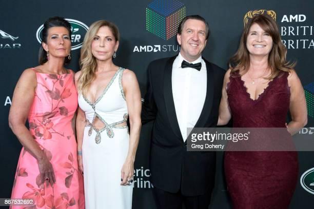 Elizabeth Barbatelli Anna Granucci Sebastian SerrellWatts and Alexa Jago arrive for the 2017 AMD British Academy Britannia Awards presented by Jaguar...