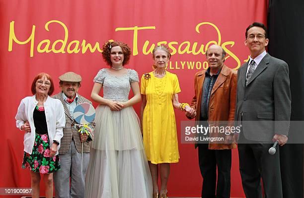 Elizabeth Barrington, her husband actor Jerry Maren, actress Margaret O'Brien, Judy Garland's son Joey Luft and writer Jack Allen pose with Garland's...