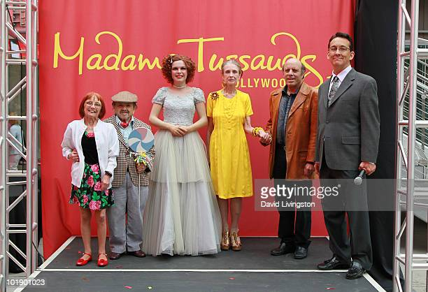Elizabeth Barrington her husband actor Jerry Maren actress Margaret O'Brien Judy Garland's son Joey Luft and writer Jack Allen pose with Garland's...