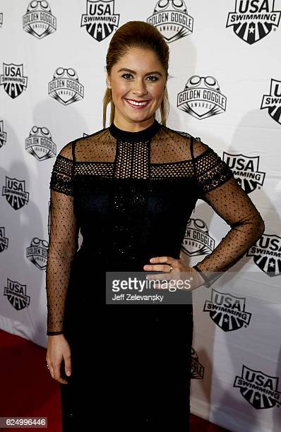 Elizabeth Beisel arrives to the 2016 Golden Goggles Awards at the Marriott Marquis Hotel on November 21 2016 in New York City
