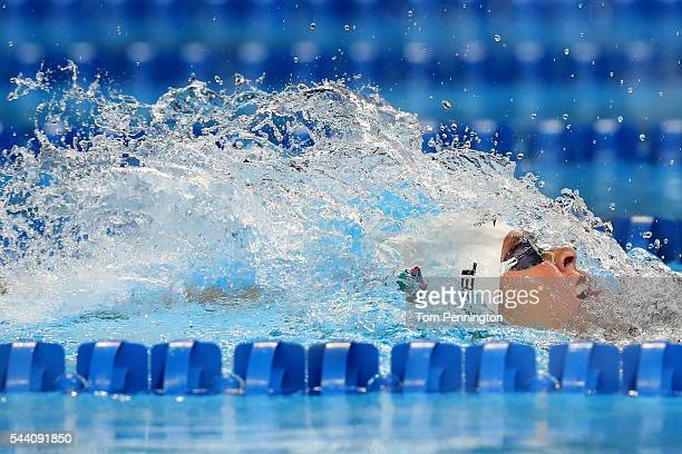 Elizabeth Beisel of the United States competes in a heat for the Women's 200 Meter Backstroke during Day Six of the 2016 US Olympic Team Swimming...