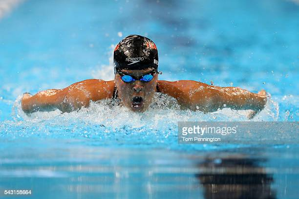 Elizabeth Beisel of the United States competes in a preliminary heat for the Women's 400 Meter Individual Medley during Day One of the 2016 US...