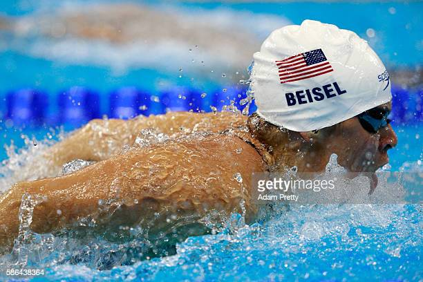 Elizabeth Beisel of the United States competes in the Women's 400m Individual Medley heat 5 on Day 1 of the Rio 2016 Olympic Games at the Olympic...