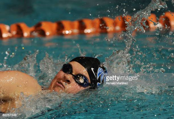 Elizabeth Beisel swims in the Women's 500 yard Freestyle preliminaries during day one of the 2009 USA Swimming Austin Grand Prix on March 5 2009 at...