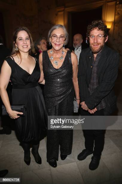 Elizabeth Belfer Alice Walton and Dustin Yellin attend the American Federation of Arts 2017 Gala and Cultural Leadership Awards at The Metropolitan...