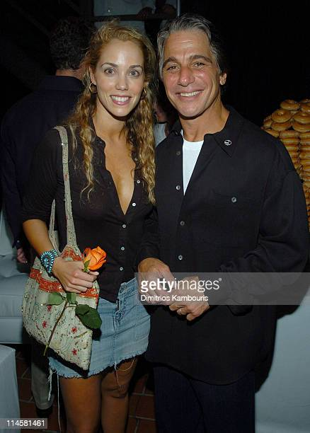 Elizabeth Berkley and Tony Danza at Roses's Cocktail Infusions launch party for Fete Accompli The Ultimate Guide to Creative Entertaining by Lara...