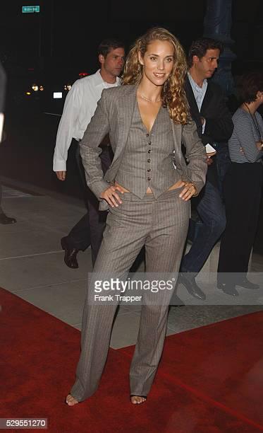 "Elizabeth Berkley arriving at the premiere of ""Moonlight Mile""."
