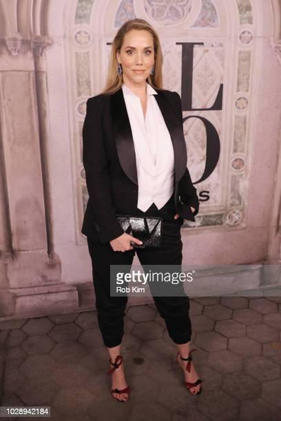 Elizabeth Berkley attends the Ralph Lauren fashion show during New York Fashion Week at Bethesda Terrace on September 7 2018 in New York City