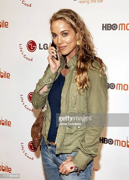 Elizabeth Berkley during Cingular and LG Host Preview Party for HBO Mobile and the New Cingular LGCU 500 Cell Phone Cingular Carpet at Mr Chow...