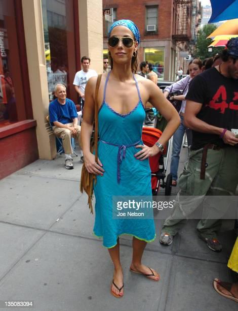Elizabeth Berkley during Elizabeth Berkley and Greg Lauren Sighting in New York City June 12 2005 at Street of New York City in New York City New...