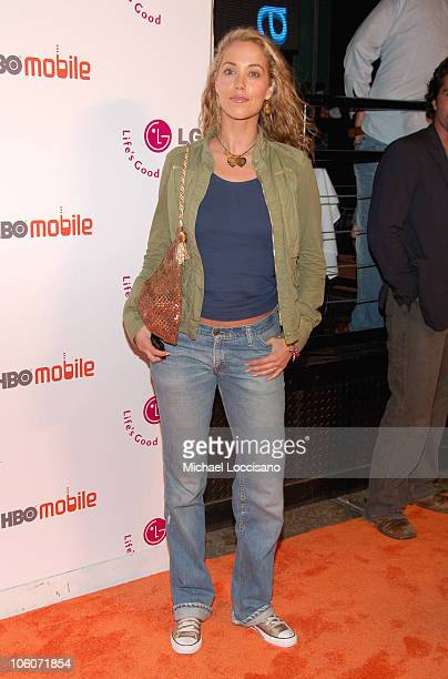 Elizabeth Berkley during Launch of HBO Mobile May 31 2005 at Mr Chow Tribeca in New York City New York United States