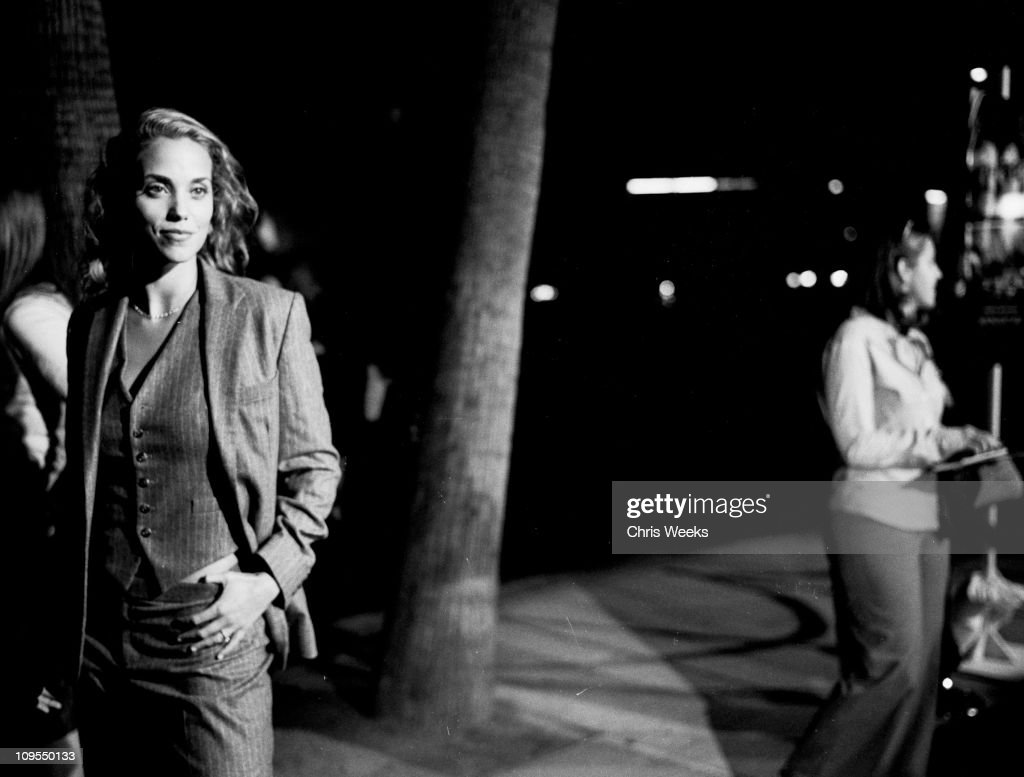 Elizabeth berkley during moonlight mile benefit screening arrivals black and white photography