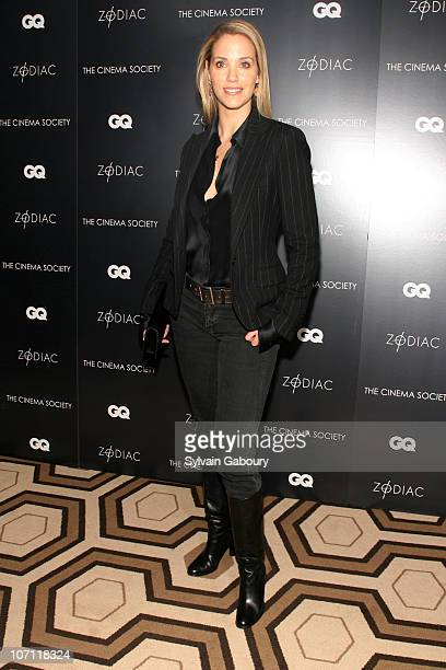 Elizabeth Berkley during Zodiac New York City Screening Hosted by The Cinema Society and GQ Inside Arrivals at Tribeca Grand Hotel Grand Screening...