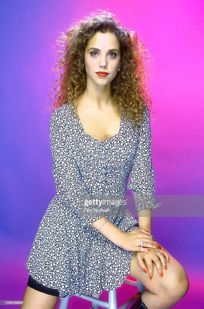Elizabeth Berkley in a private photo shoot at Ron Wolfson's Studio on July, 18, 1990 in Studio City, California.