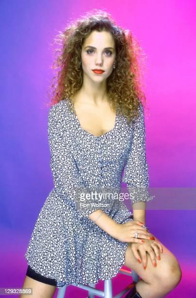 Elizabeth Berkley in a private photo shoot at Ron Wolfson's Studio on July 1990 in Studio City California