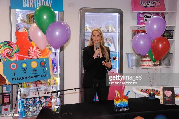 Elizabeth Berkley signs copies of Ask Elizabeth at Dylan's Candy Bar on April 1 2011 in New York City