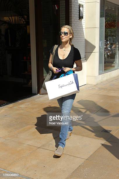 Elizabeth Berkley visits Extra at The Grove on September 14 2011 in Los Angeles California
