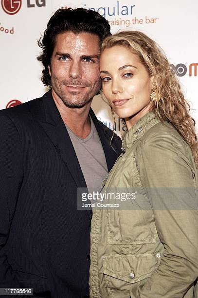 Elizabeth Berkley with Greg Lauen during Cingular and LG Host Preview Party for HBO Mobile and the New Cingular LGCU 500 Cell Phone Cingular Carpet...