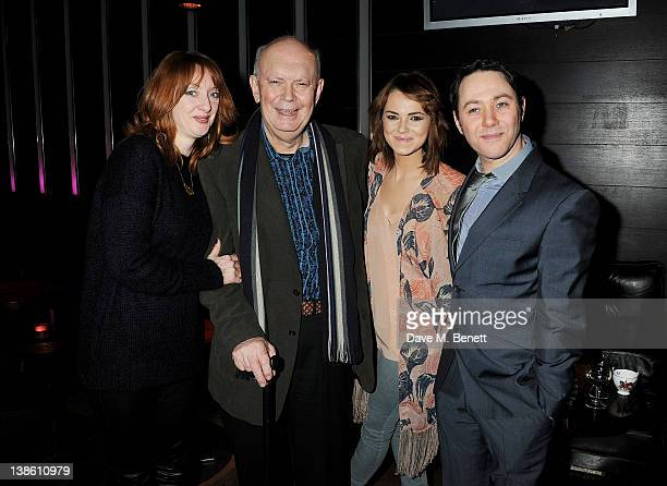 Elizabeth Berrington playwright Alan Ayckbourn Kara Tointon and Reece Shearsmith attend an after party celebrating the press night performance of...