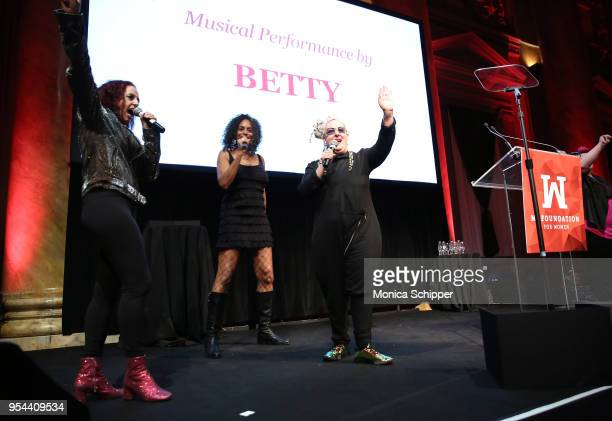 Elizabeth 'Betty' Ziff Alyson Palmer and Amy Ziff of Betty perform onstage at the Ms Foundation 30th Annual Gloria Awards at Capitale on May 3 2018...