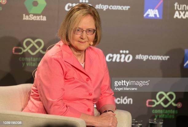 Elizabeth Blackburn attends the 'Presente y Futuro de la Investigación del Cancer' event on September 24 2018 in Madrid Spain