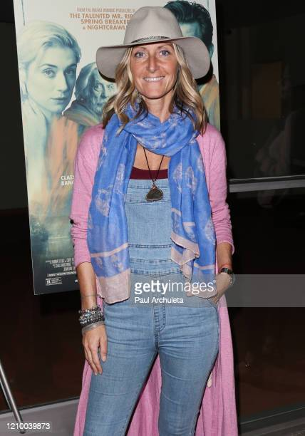 """Elizabeth Blake Thomas attends the LA special screening of Sony's """"The Burnt Orange Heresy"""" at Linwood Dunn Theater on March 02, 2020 in Los Angeles,..."""