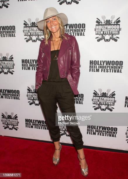 Elizabeth BlakeThomas arrives at A Dark Foe Film Premiere on February 15 2020 in Los Angeles California