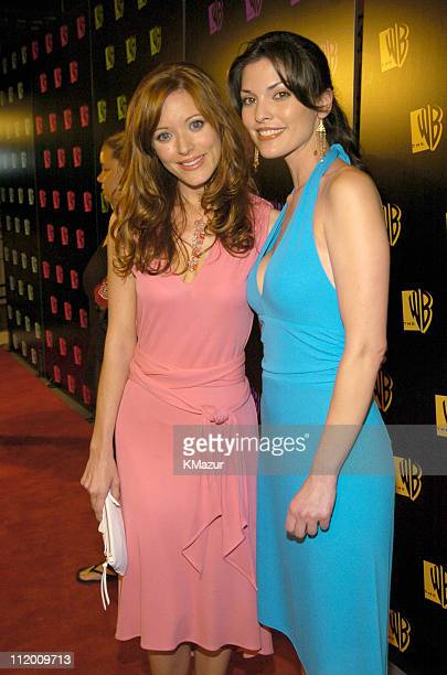 Elizabeth Bogush and Alana de la Garza during The 20042005 WB Primetime Upfront After Party at Lighthouse at Chelsea Piers in New York City New York...