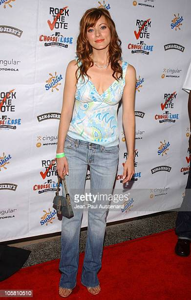 Elizabeth Bogush during Rock The Vote 2004 National Bus Tour Concert Arrivals at Avalon in Hollywood California United States