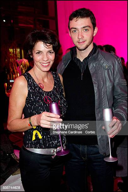 Elizabeth Bourgine and her son Jules attend the party of Hugo Cabret 3D at Petit Palais in Paris