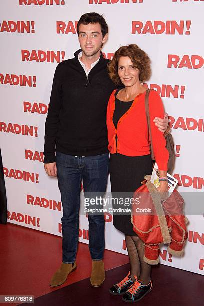 Elizabeth Bourgine and her son Jules attend the Radin Paris Premiere at Cinema Gaumont Opera on September 22 2016 in Paris France