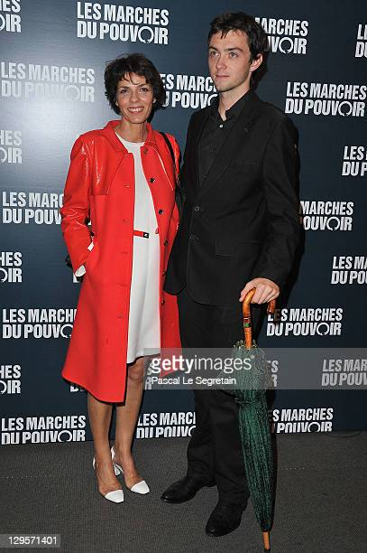 Elizabeth Bourgine and Jules attends 'The Ides of March'Paris Premiere at Cinema UGC Normandie on October 18 2011 in Paris France