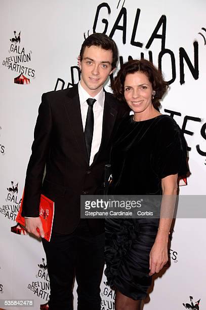 Elizabeth Bourgine and son Jules attend the 51st Gala de L'Union Des Artistes at Cirque Alexis Gruss in Paris