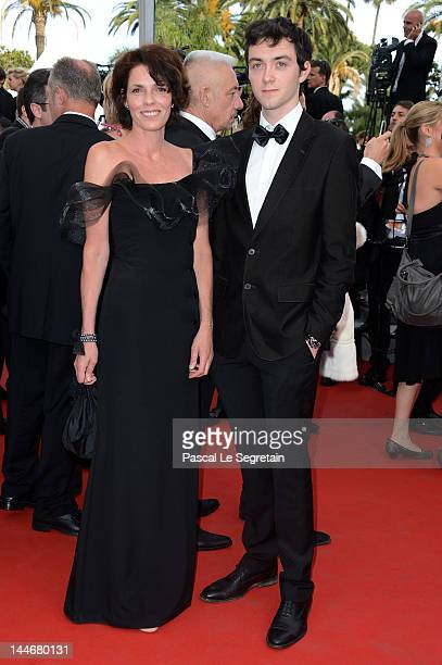 Elizabeth Bourgine and son Jules attend the De Rouille et D'os Premiere during the 65th Annual Cannes Film Festival at Palais des Festivals on May 17...