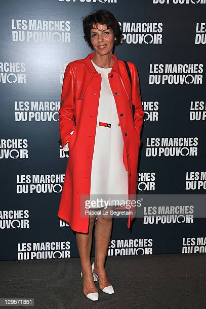 Elizabeth Bourgine attends 'The Ides of March'Paris Premiere at Cinema UGC Normandie on October 18, 2011 in Paris, France.