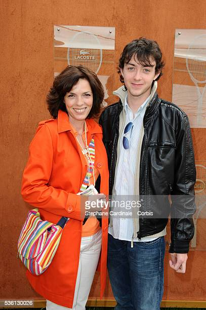 Elizabeth Bourgine with his son Jules at Roland Garros Village