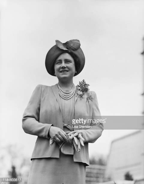 Elizabeth BowesLyon at the Royal Lodge in Windsor Great Park UK April 1940